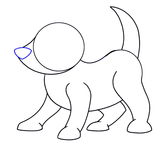How to Draw Cartoon Dog: Step 9