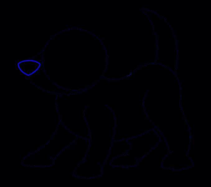 How to draw a cartoon dog Step: 09