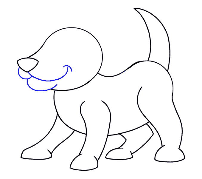 How to Draw Cartoon Dog: Step 10
