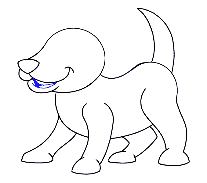 How to Draw Cartoon Dog: Step 11