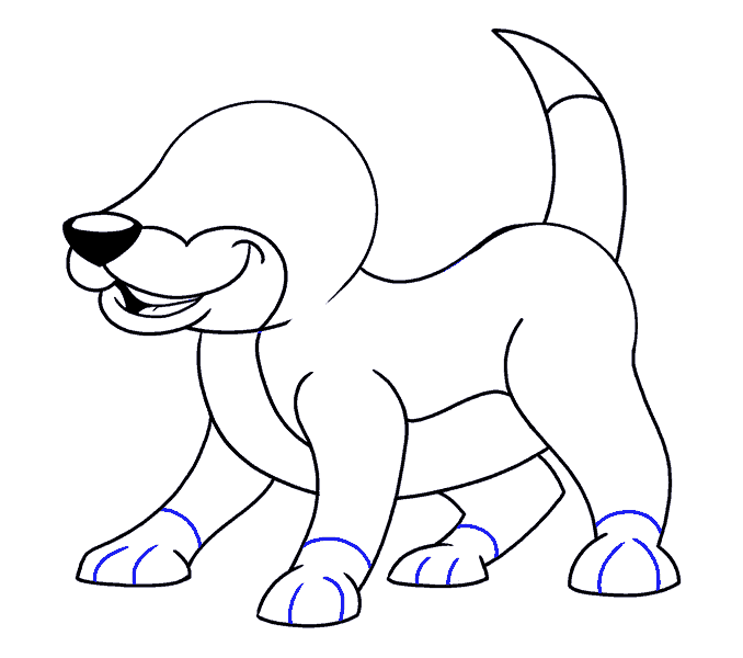 How to Draw Cartoon Dog: Step 14