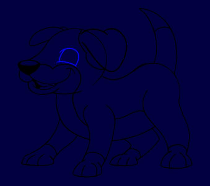 How to draw a cartoon dog Step: 17