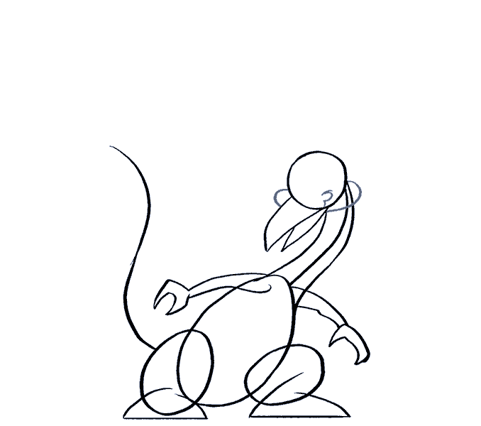 How to draw a cartoon dragon Step: 11