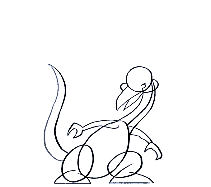 How to draw a cartoon dragon Step: 12