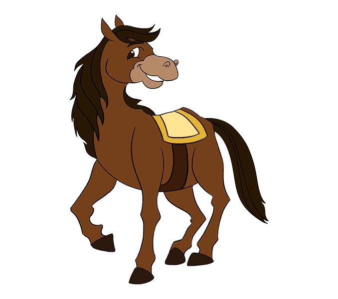 How to draw a cartoon horse Step: 20