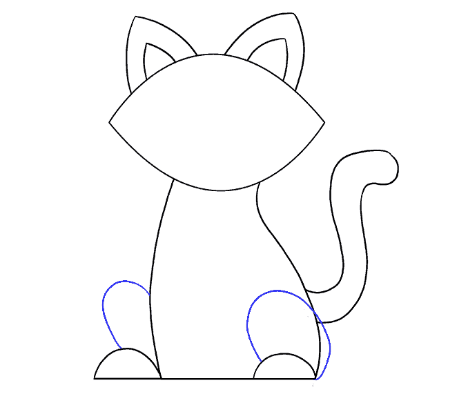How to Draw Simple Cat: Step 12
