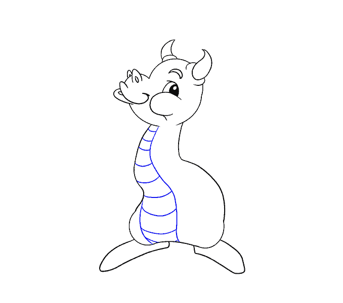 How to draw a baby dragon Step: 12