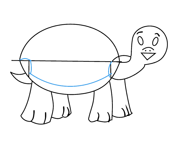 How to draw a turtle: Step 12