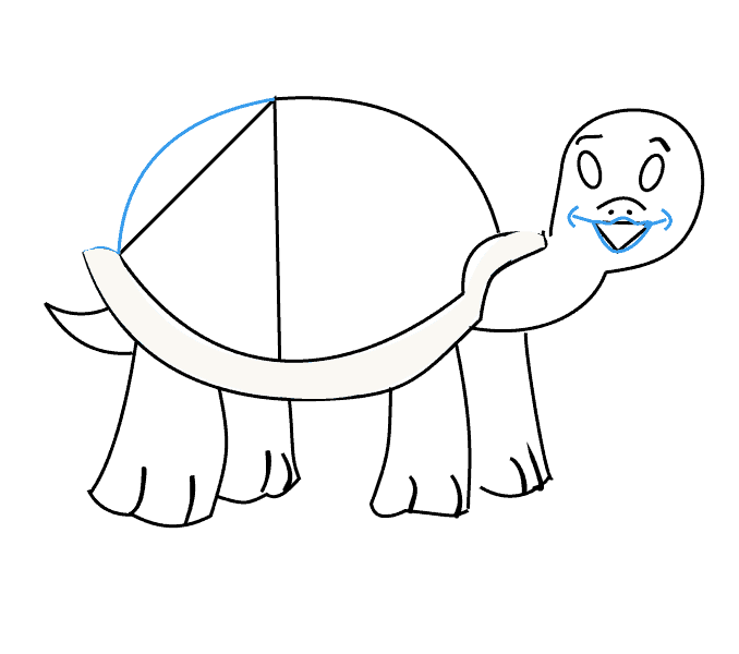 How to draw a turtle: Step 14