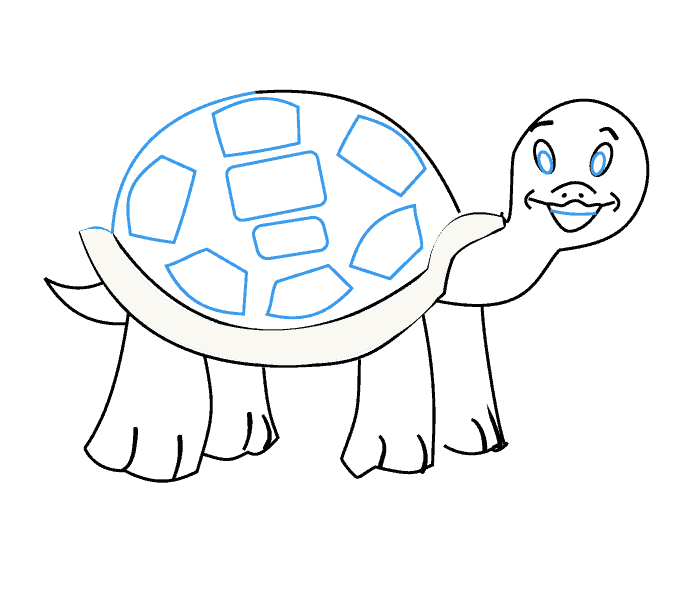 How to draw a turtle: Step 15