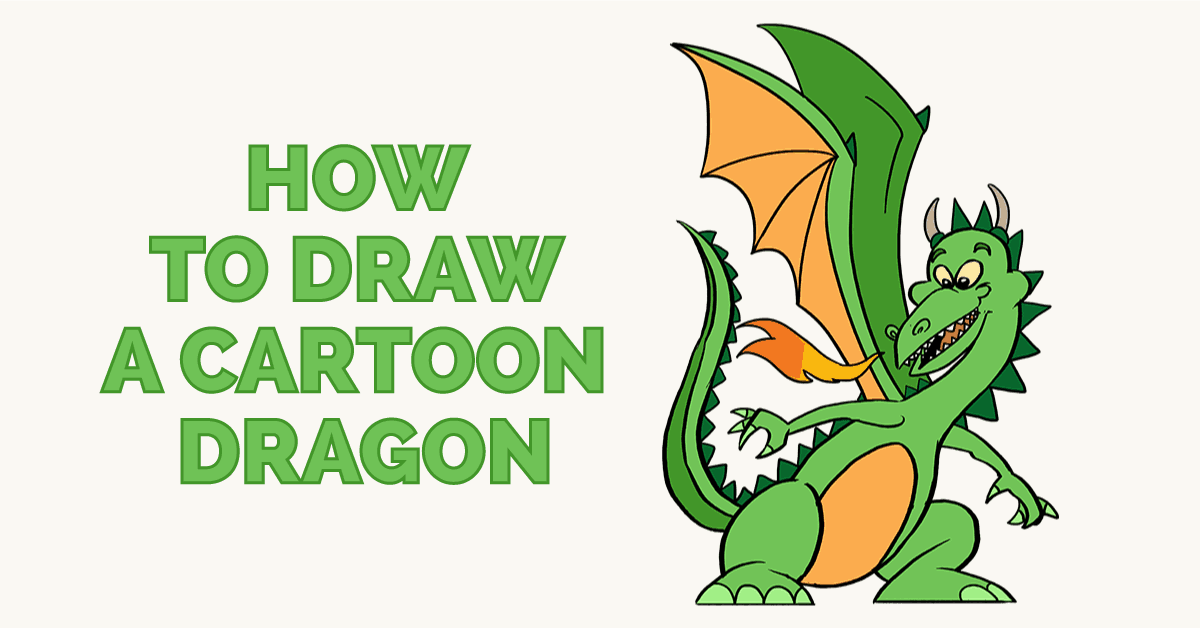 How To Draw A Cartoon Dragon Easy Drawing Guides