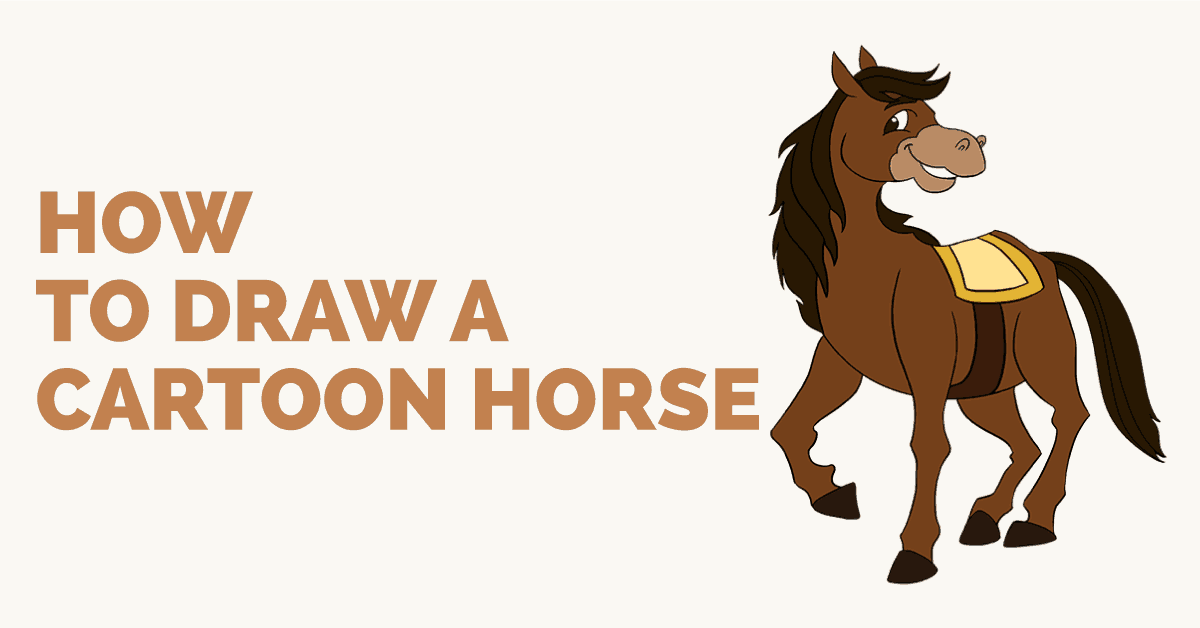 How To Draw A Cartoon Horse Easy Drawing Guides