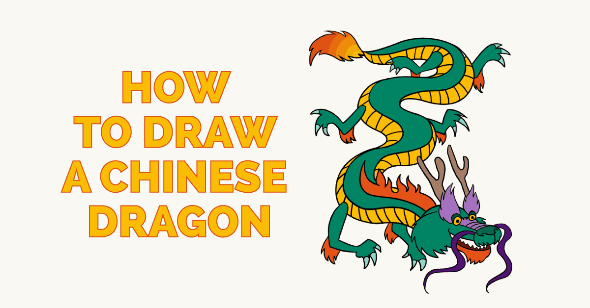 How To Draw A Chinese Dragon Easy Drawing Guides