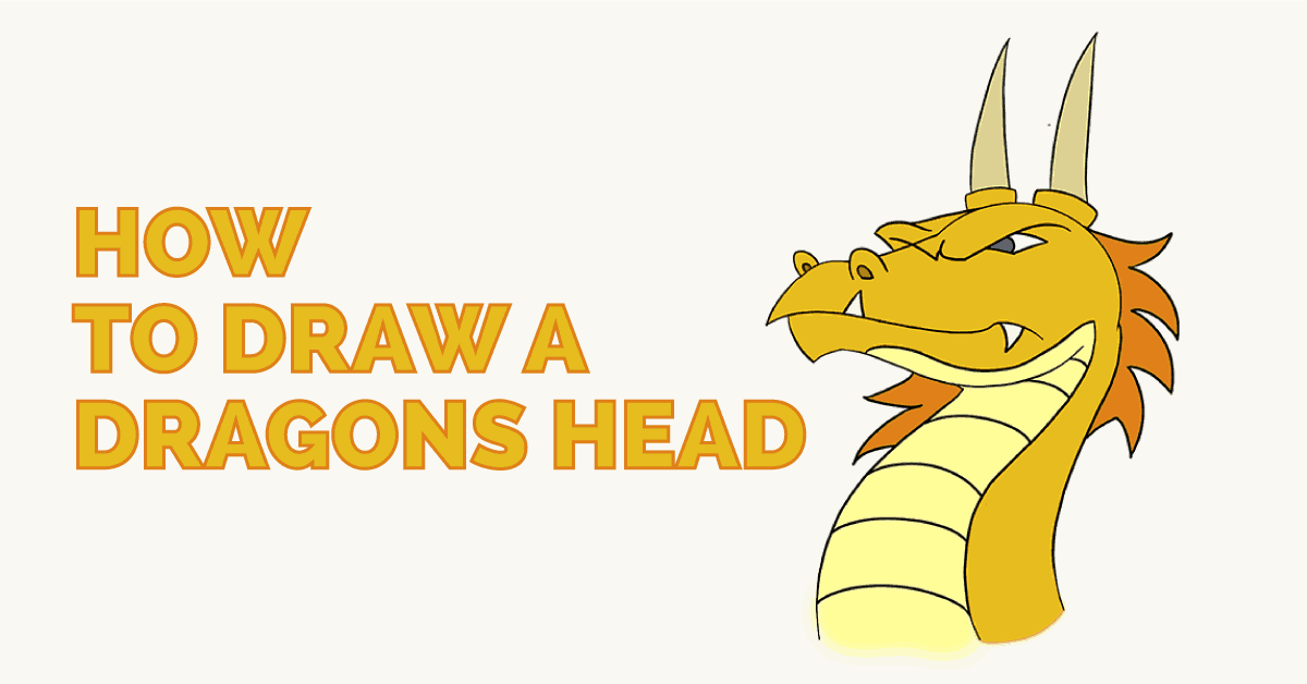How to draw a dragon head featured image