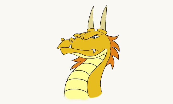 How to draw a dragon head: header image