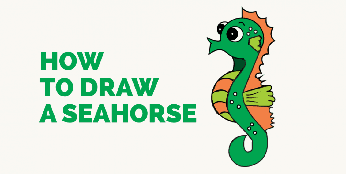 How to Draw a Seahorse: Featured image