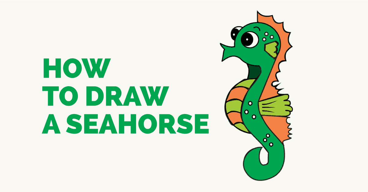 How To Draw A Seahorse Step By Step Easy Drawing Guides