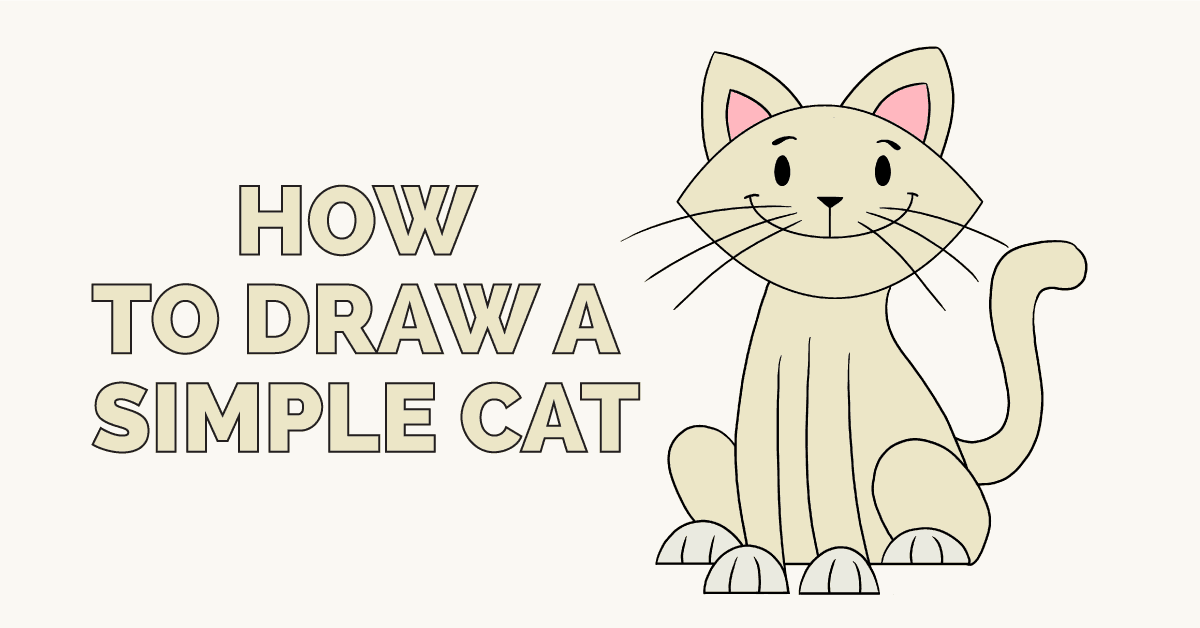 How to Draw a Simple Cat: Featured Image