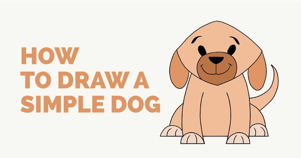Image of: Images How To Draw Simple Dog Featured Image Easy Drawing Guides How To Draw Simple Dog Easy Drawing Guides