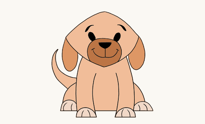 How to draw simple dog: header image