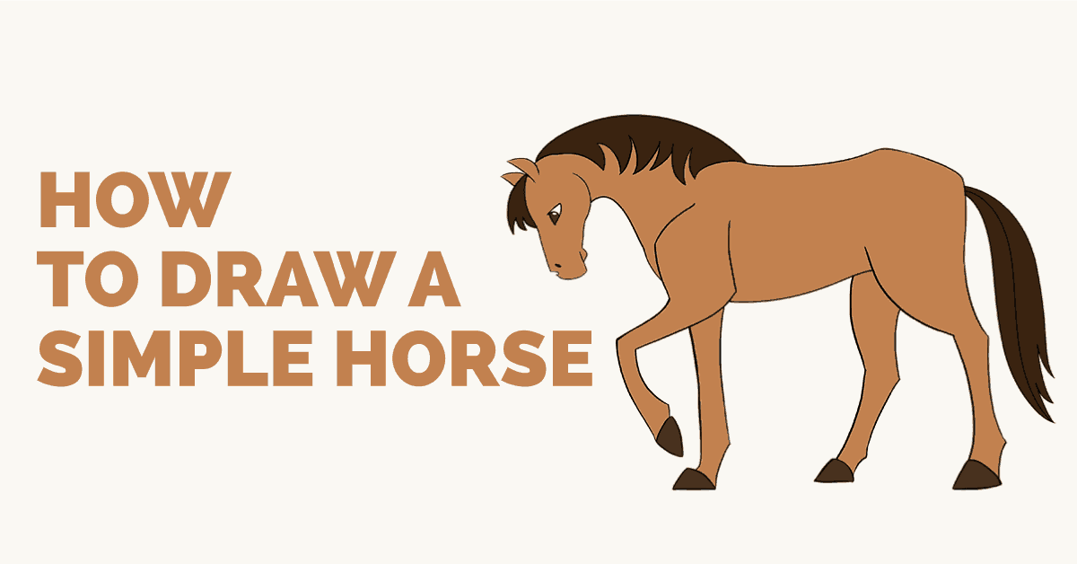 How To Draw A Simple Horse Easy Drawing Guides