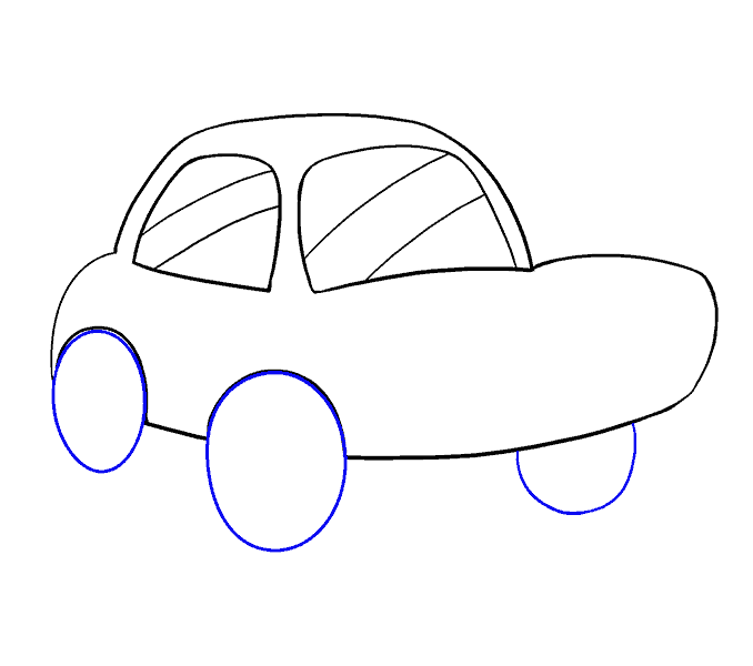 How to Draw Cartoon Car: Step 10