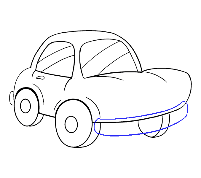 How to Draw Cartoon Car: Step 14