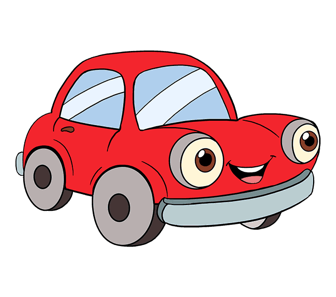 How to Draw Cartoon Car: Step 20