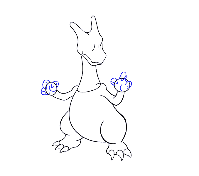 how to draw charizard Step: 13