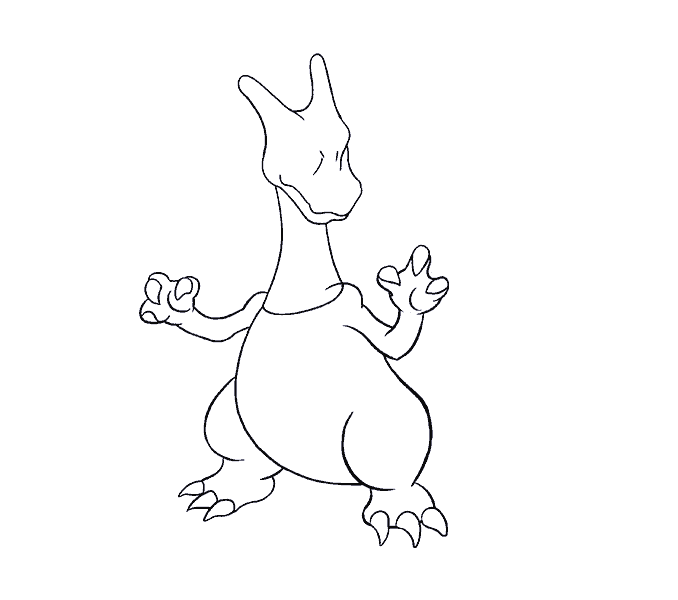 how to draw charizard Step: 14