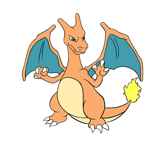 how to draw charizard Step: 21