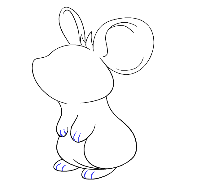 How to Draw Mouse: Step 14