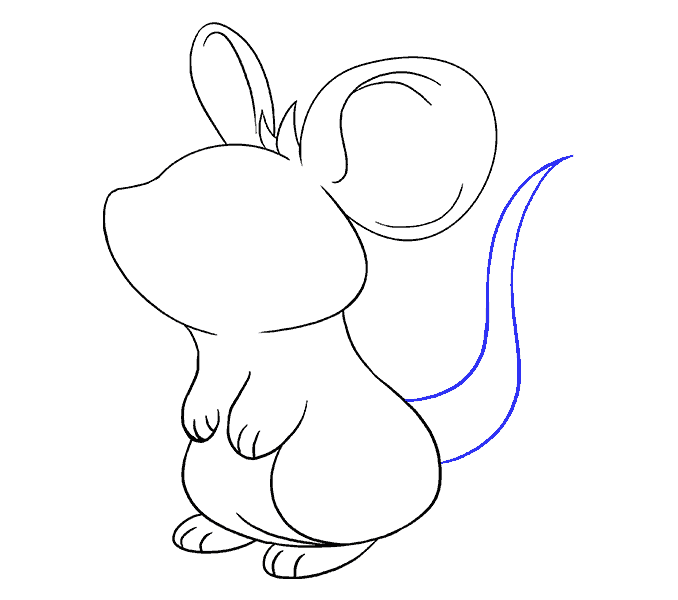How to Draw Mouse: Step 15