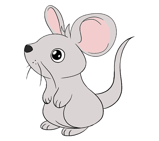 How to draw a mouse step by step tutorial easy drawing for How to draw with a mouse
