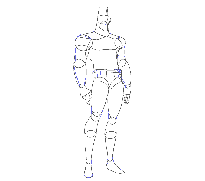 How to Draw Batman: Step 12