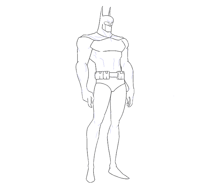 How to Draw Batman: Step 14