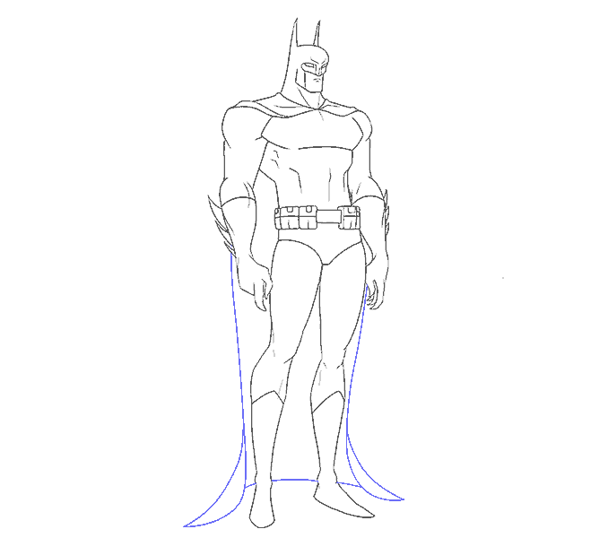 How to Draw Batman: Step 17