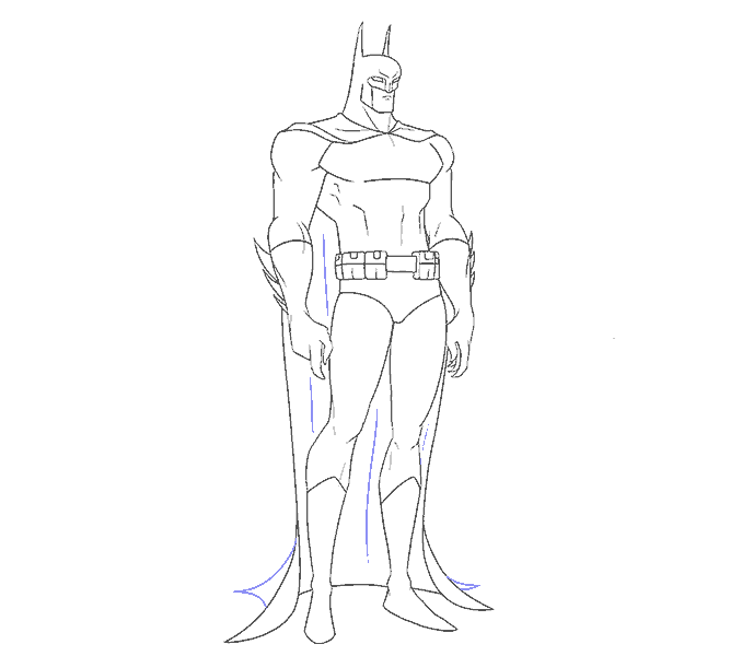 How to Draw Batman: Step 18