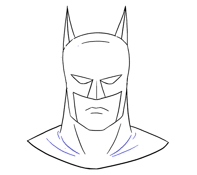 How to Draw Batman's Face: Step 18