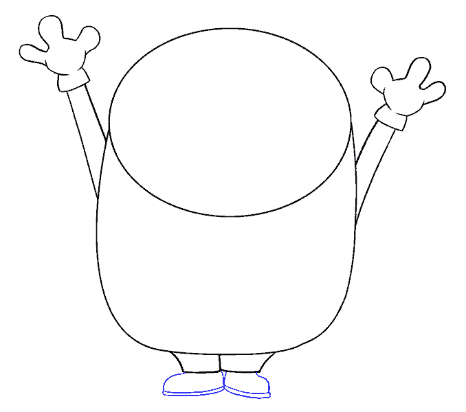 How to Draw Bob the Minion: Step 8