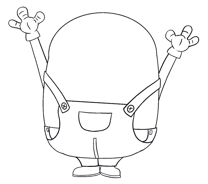 How to Draw Bob the Minion: Step 13