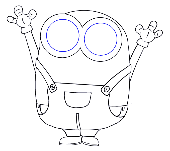 How to Draw Bob the Minion: Step 16