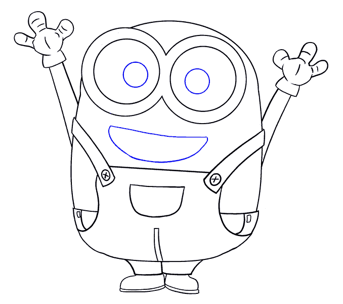 How to Draw Bob the Minion: Step 17