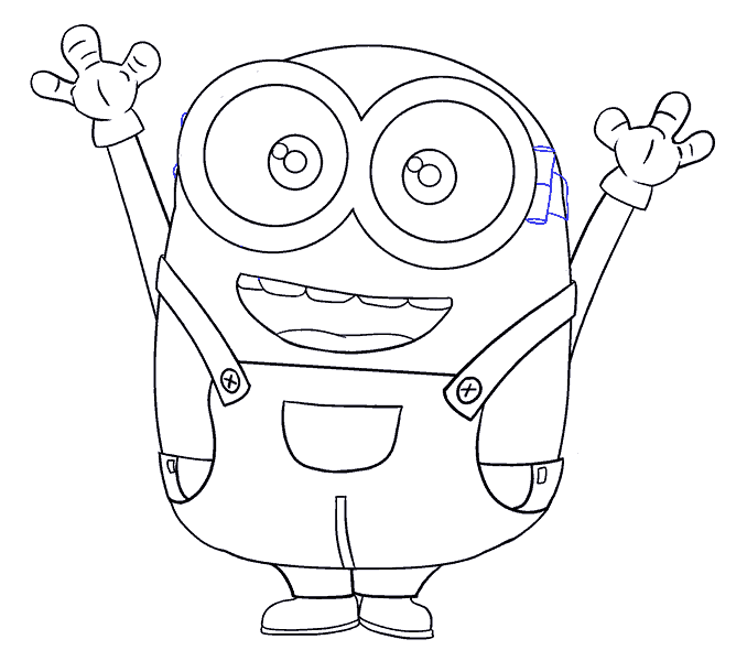 How to Draw Bob the Minion: Step 19