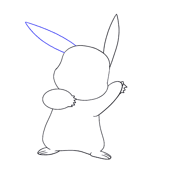 How to draw a pikachu Step: 13