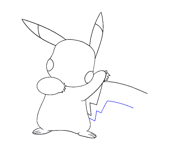 How to draw a pikachu Step: 16