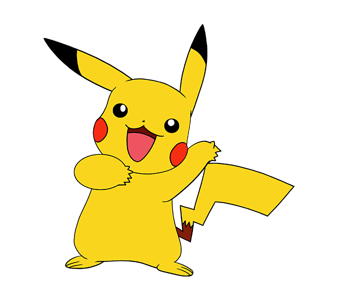 How to Draw Pikachu: Step 20