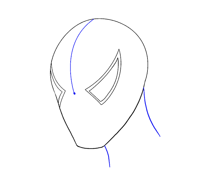How to Draw Spiderman's Face: Step 5