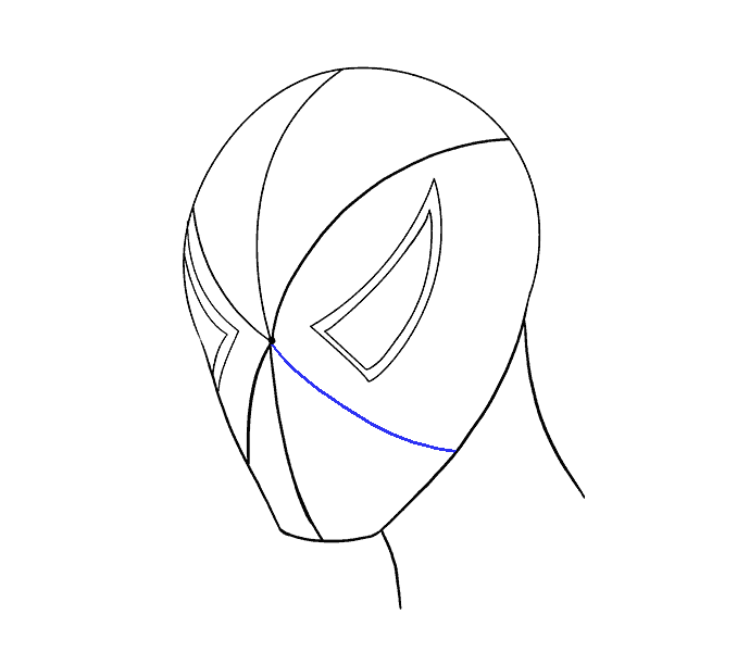How to draw Spiderman face Step: 10