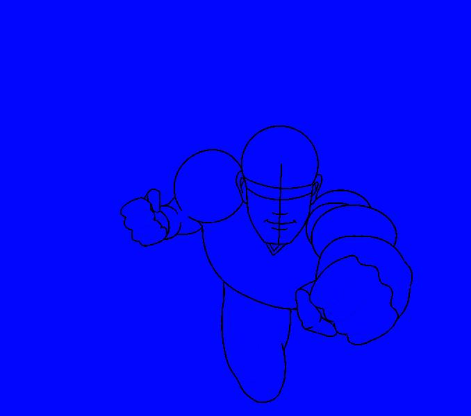 Cómo dibujar a Superman: Paso 11